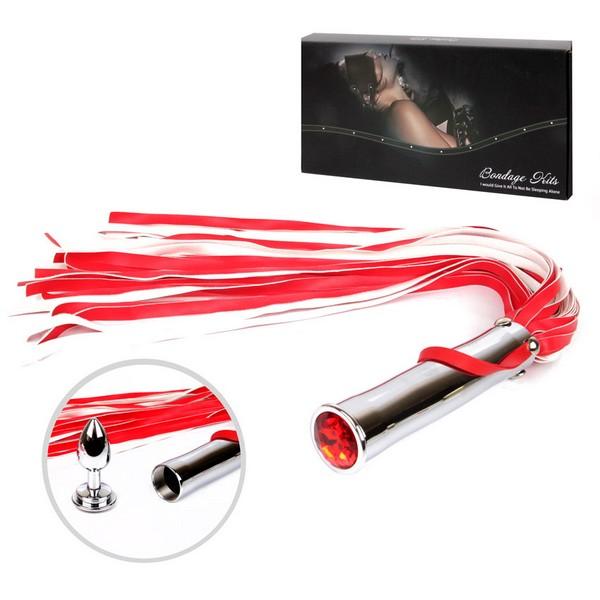 ПЛЕТЬ + ВТУЛКА L рукояти 150 мм L хвоста 420 мм, L втулки 70 мм D втулки 25 мм, цвет красный арт. NTB-80484