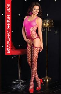 КОМБИНЕЗОН СЕТКА цвет розовый/бордовый, размер L/XL арт. BS-22019-36