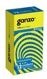 """ПРЕЗЕРВАТИВЫ """"GANZO"""" CLASSIC №12 (классические с обильной смазкой)"""