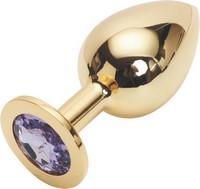 GOLDEN PLUG LARGE (втулка анальная) цвет кристалла светло-фиолетовый, L 95 мм, D 41 мм, вес 160г, арт. GL-15