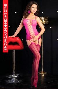 КОМБИНЕЗОН СЕТКА цвет розовый/бордовый, размер S/L арт. BS-22013-36