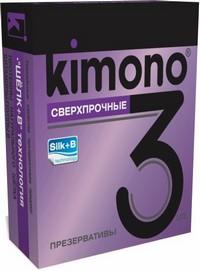 ПРЕЗЕРВАТИВЫ KIMONO (сверхпрочные) 3 шт.