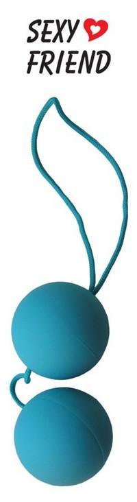 """ШАРИКИ ВАГИНАЛЬНЫЕ """"BALLS"""" цвет голубой D 35 мм арт. SF-70151-2"""