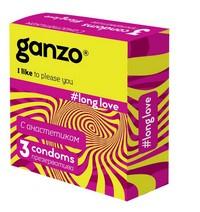 ПРЕЗЕРВАТИВЫ GANZO LONG LOVE №3 (пролонгирующие)