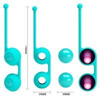 ШАРИКИ ВАГИНАЛЬНЫЕ D 34 мм, 93г, цвет бирюзовый арт. BI-014493-1