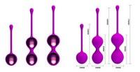 ШАРИКИ ВАГИНАЛЬНЫЕ набор 3 шт, цвет фиолетовый арт. BI-014505