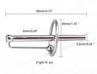 СТИМУЛЯТОР УРЕТРАЛЬНЫЙ (катетер) L 80 мм D 6 мм арт. NTU-80392
