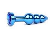 АНАЛЬНАЯ ВТУЛКА СИНЯЯ, L 113 мм D 22x25x29 мм, вес 100г, цвет кристалла синий арт. QBLU-13