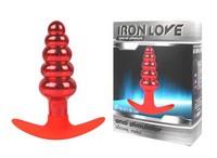ВТУЛКА АНАЛЬНАЯ КРАСНАЯ цвет основания красный, вес 132 г, L 108 мм D 16x27x35 мм арт. IL-28014-RED