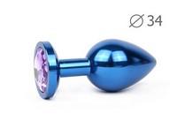 BLUE PLUG MEDIUM (втулка анальная), L 82 мм D 34 мм, вес 100г, цвет кристалла светло-фиолетовый, арт. BLUM-15