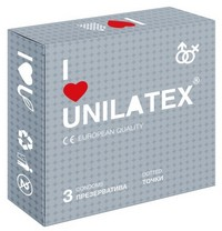 """ПРЕЗЕРВАТИВЫ UNILATEX """"DOTTED"""" с точечной поверхностью, 3 шт., арт. 3017"""