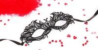 Маска ажурная АНДРЕА цвет чёрный, текстиль арт. EE-20363