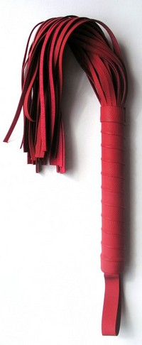 ПЛЕТКА L рукояти 160 мм L хвоста 300 мм, цвет красный, (PVC) арт. MLF-90068-3