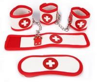 КОМПЛЕКТ (наручники, оковы, маска) PVC арт. NTB-80329