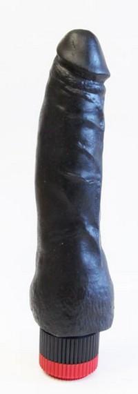 ВИБРАТОР РЕАЛИСТИК В ЛАМИНАТЕ L 175 мм D 40 мм, цвет черный арт. 410700