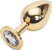 GOLDEN PLUG LARGE (втулка анальная) цвет кристалла бесцветный, L 95 мм, D 41 мм, вес 160г, арт. GL-01