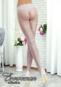 КОЛГОТКИ СЕТКА цвет белый, One Size арт. BS-22106