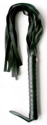 ПЛЕТКА L рукояти 160 мм L хвоста 335 мм, цвет черный, (PVC) арт. MLF-90070-1